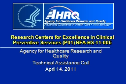Research Centers for Excellence in Clinical Preventive Serv