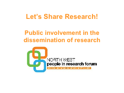 Let's Share Research!