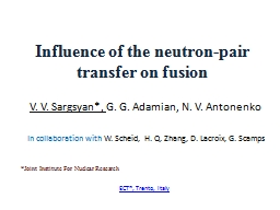 Influence of the neutron-pair transfer on fusion