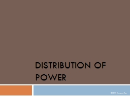 Distribution of Power PowerPoint PPT Presentation