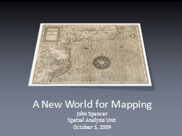 A New World for Mapping PowerPoint PPT Presentation