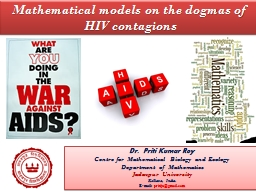Mathematical models on the dogmas of HIV contagions PowerPoint PPT Presentation