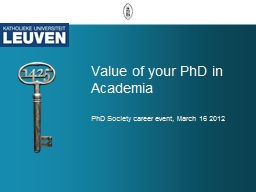 Value of your PhD in Academia