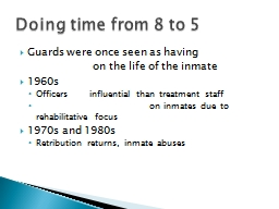 Guards were once seen as having PowerPoint PPT Presentation