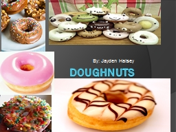 DOUGHNUTS PowerPoint PPT Presentation
