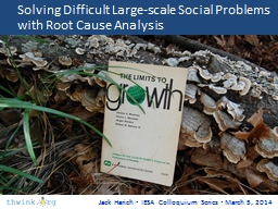 Solving Difficult Large-scale Social PowerPoint PPT Presentation