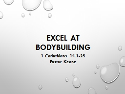 Excel at Bodybuilding