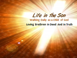 Life in the Son PowerPoint PPT Presentation
