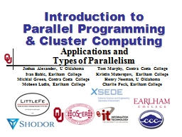 Introduction to  Parallel PowerPoint PPT Presentation