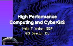 High Performance Computing and