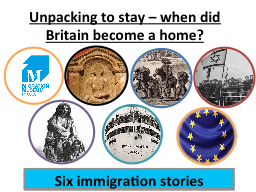 Unpacking to stay – when did Britain become a home?