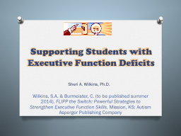Supporting Students with Executive Function PowerPoint PPT Presentation