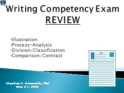 Writing Competency Exam