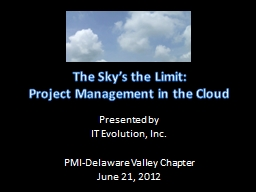 The Sky's the Limit: PowerPoint PPT Presentation