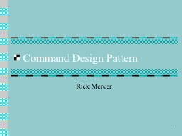 1 Command Design Pattern PowerPoint PPT Presentation