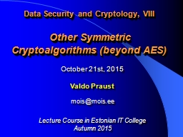 Data Security and Cryptology, VIII