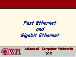 Fast Ethernet PowerPoint PPT Presentation