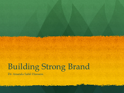 Building Strong Brand