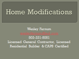 Home Modifications PowerPoint PPT Presentation
