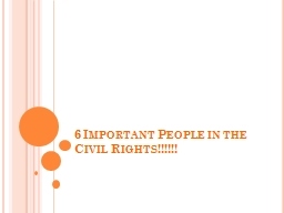 6 Important People in the Civil Rights!!!!!!