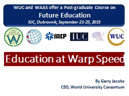 Education at Warp Speed