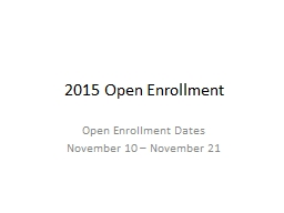2016 Open Enrollment