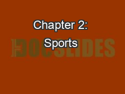 Chapter 2: Sports & Entertainment Marketing-Connections