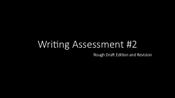 Writing Assessment #2