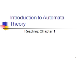 1 Introduction to Automata Theory