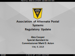 Association of Alternate Postal Systems PowerPoint PPT Presentation