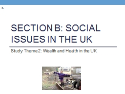 Section B: Social issues in the