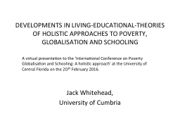DEVELOPMENTS IN LIVING-EDUCATIONAL-THEORIES OF HOLISTIC APP