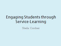 Engaging Students through Service-Learning