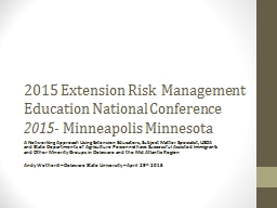 2015 Extension Risk
