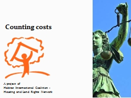 Counting costs PowerPoint PPT Presentation