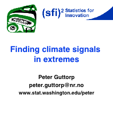 Finding climate signals in extremes