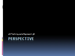 Perspective PowerPoint PPT Presentation