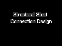Structural Steel Connection Design