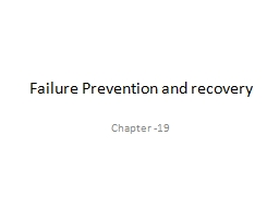 Failure Prevention and recovery