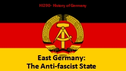East Germany: PowerPoint PPT Presentation