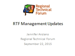 RTF Management Updates PowerPoint PPT Presentation