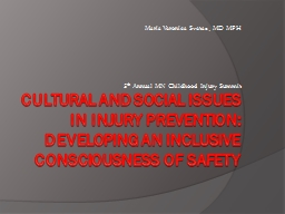 Cultural and Social Issues in Injury Prevention: Developing