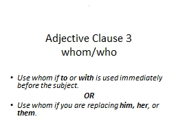 2 Adjective Clause 3