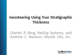 Geosteering Using True Stratigraphic Thickness