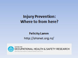 Injury Prevention:
