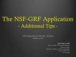 National Science Foundation Graduate Research Fellowship