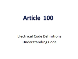 Article 100 PowerPoint PPT Presentation