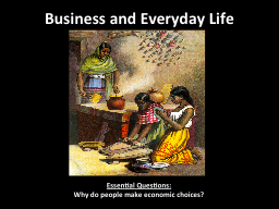 Business and Everyday Life