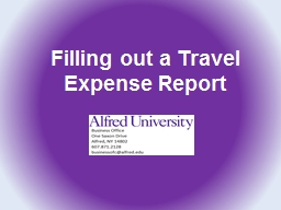 Filling out a Travel Expense Report