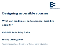 Designing accessible courses